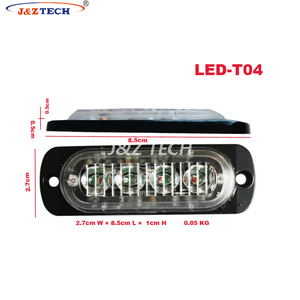Super thin 4LEDs warning light grille strobe lighthead for car