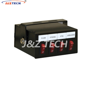 four switch box with plow strobe pto spreader button