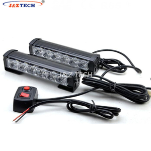 12V Two Pairs 12 Leds Police Interior Grill Strobe Dash Light